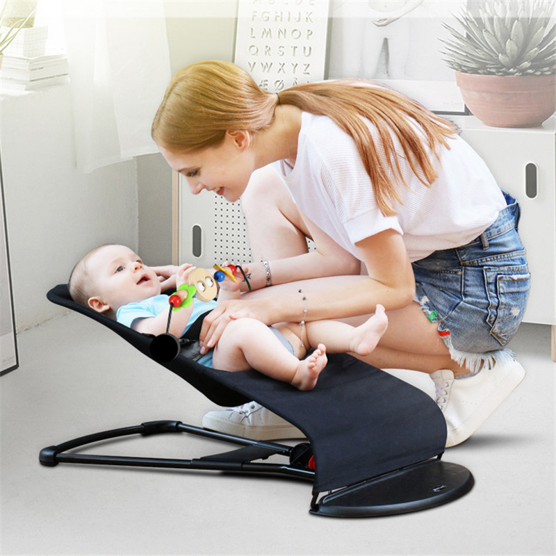 Portable Baby Cradle Natural Swing Baby Appease Rocking Chair Non-electric Newborn Cradle Washable Cloth Cover Baby Crib Cot