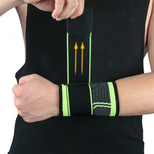 Adjustable pressure Sports bracer fitness wrist band sports wrist Basketball weightlift wristband Elastic bandage bracer