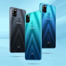 100% original infinix quente 10 lite versão global telefone inteligente 6.6 polegada helio a20 2gb 32gb face desbloquear 13mp triplo câmera