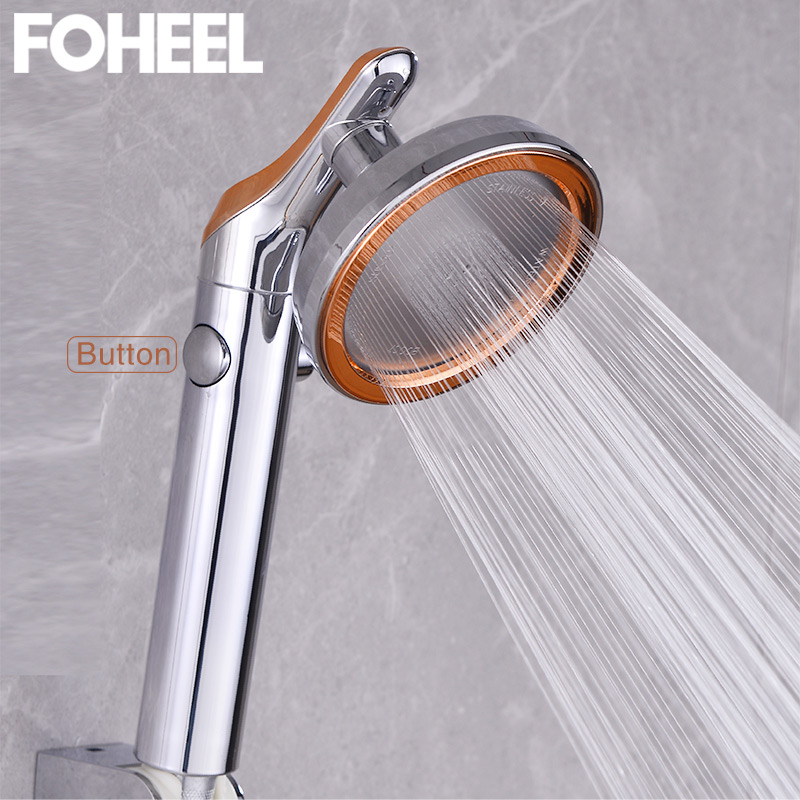 FOHEEL Shower Head High Pressure Shower Head Water Saving One Button To Stop Water Shower Heads Rotatable Handshower Shower Head