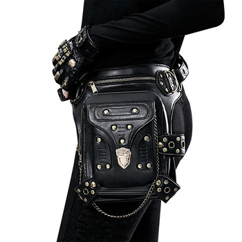 Women Waist Bag Female Fanny Pack Belt Bags Small Leg Bag Steampunk Bags Gothic Messenger Bag Hip Hop Bum Pack Fashion Purse D03
