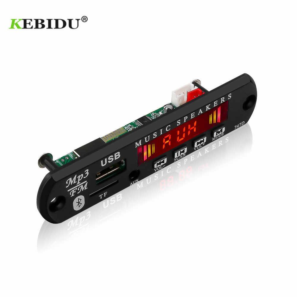 KEBIDU تيار مستمر 12 فولت MP3 WMA فك مجلس وحدة صوت USB TF راديو لاسلكي الموسيقى مشغل MP3 التحكم عن بعد ل اكسسوارات السيارات