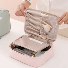 Fashion Solid Color Makeup Bag Travel Storage Organizer Cosmetic Waterproof Portable Girl Wash Zippe