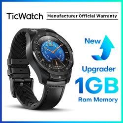 Ticwatch Pro 2020 1GB RAM Memory Smartwatch Dual Display IP68 Tahan Air NFC Tersedia Pelacakan Tidur 24 H Denyut Jantung monitor
