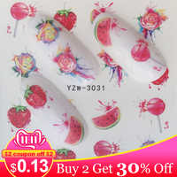 ZKO Fruit Nail Decals Stickers Nail Art Water Slide Decals Transfers Flower Horse Gift Cute