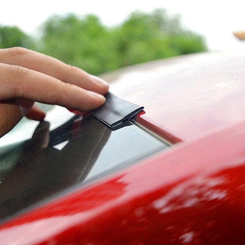 หลังคารถ Protector ซีลฉนวนกันความร้อนรถประตู Weatherstrip ด้านหน้าด้านหลังกระจกขอบแถบปิดผนึกสติกเกอร์ร...