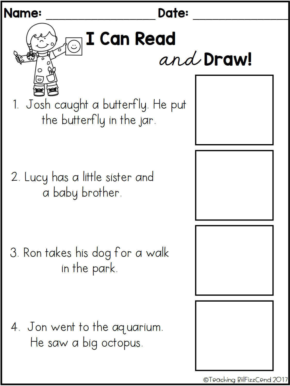 - Educational Toys Children Reading Comprehension Check Wooksheet