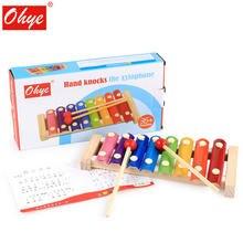Деревянные детские развивающие игрушки Октав перкуссионный ксилофон