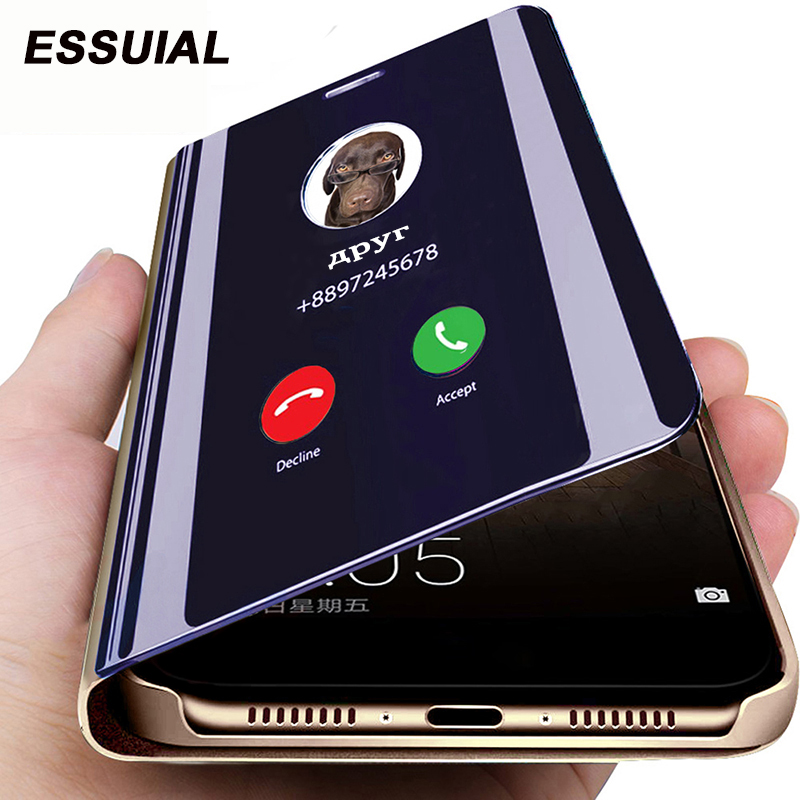 Smart Mirror Flip Case For Samsung Galaxy A51 A71 A50 A30 A10 A20 A40 A70 A10s A30s A20e Note 10 8 9 S10 S6 S7 S8 S9 Plus Cover(China)