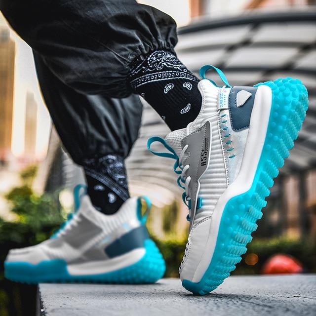 Zapatillas de correr transpirables para hombre, zapatos antideslizantes de alta calidad para correr al aire libre, cómodos y resistentes 3