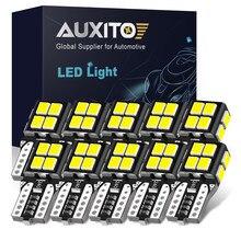 AUXITO 10x W5W T10 bombillas LED Canbus coche posición de estacionamiento de luces Luz de techo Interior para Audi A4 B8 B6 B7 A3 8P A6 C7