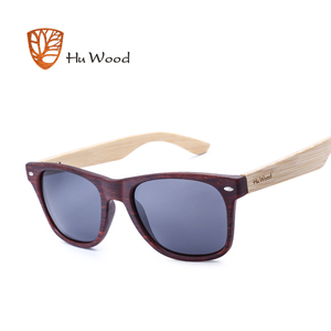 Image 4 - Hu wood 2018 디자인 남자/여자 클래식 레트로 리벳 편광 선글라스 100% 자외선 차단 대나무 태양 안경 grs8004