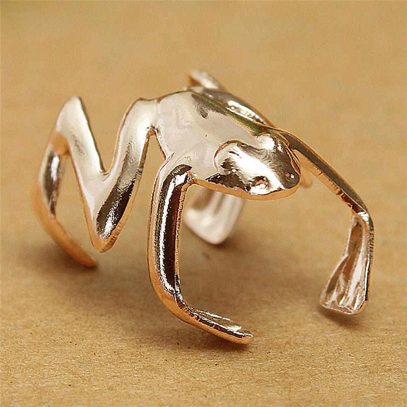 1Pc moda żaba mankiet klips do ucha Ear Wrap kolczyk Punk gotycka biżuteria prezent kobiety mężczyźni 12mm * 8mm