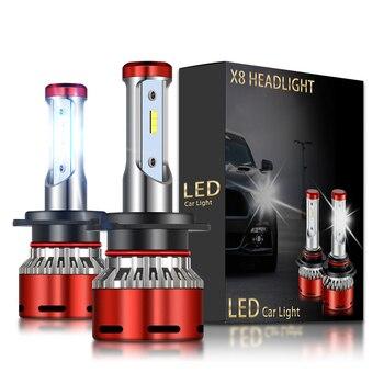 2x nuevo H7 bombilla LED CSP bombillas de faro delantero de coche H11 H1 H3 9012, 9005 de 9006 H4 Auto faros para BMW E46 E90 E91 E92 E60 E39 3 5 Series
