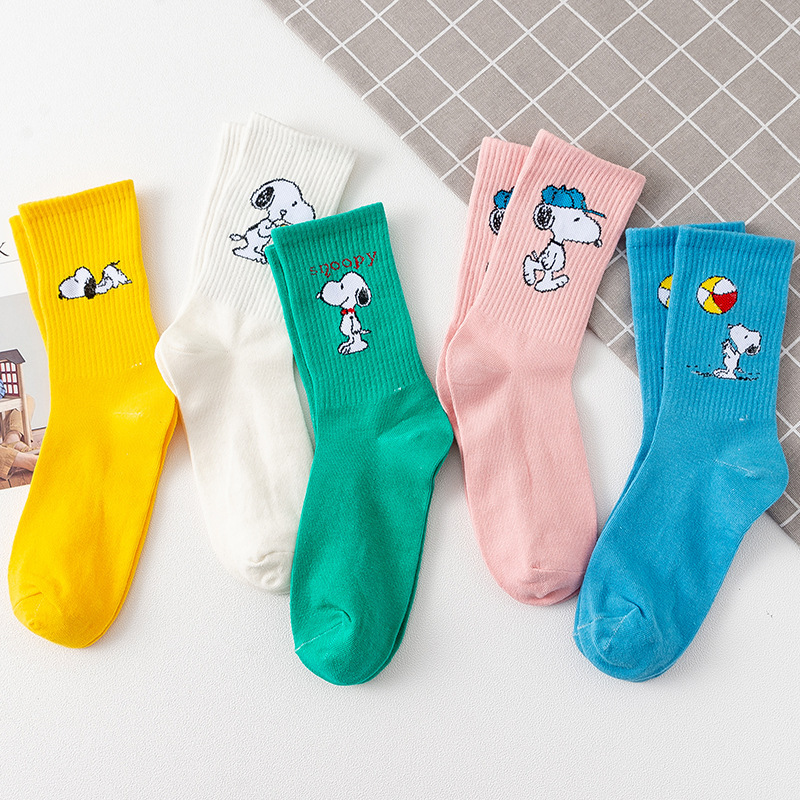 2019 Fashion Cartoon Character Cute Socks Women Cute Patterend Cotton Socks Hipster Skatebord Ankle  Autumn Funny Socks