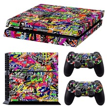 Colorful Vinyl Decal Skin Sticker For PS4 Playstation 4 Console & 2 Controllers(China)