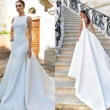 Элегантные атласные свадебные платья русалки vestido de noiva