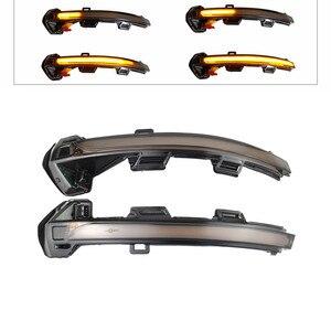 Динамический светодиодный светильник с поворотным сигналом боковой зеркальный индикатор последовательный мигалка для VW Passat B8 вариант Arteon ...