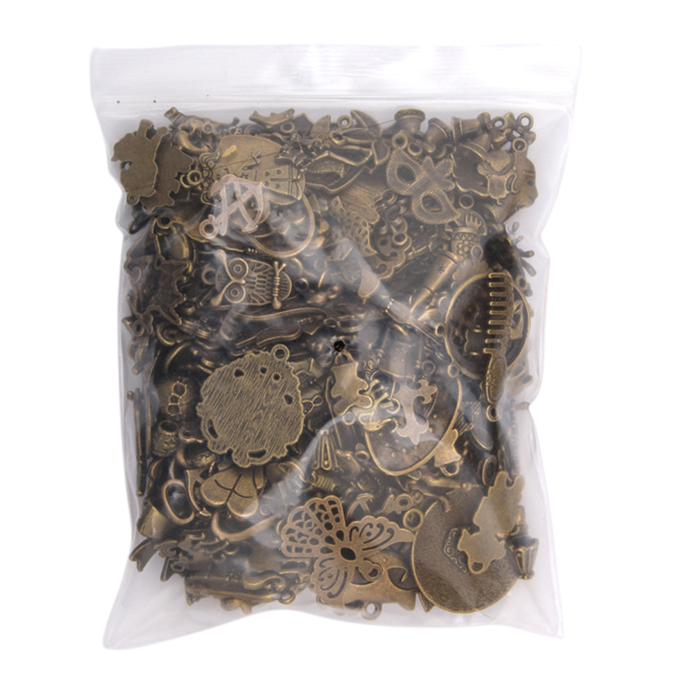 50-200g Silver/Bronze Steampunk DIY Antique Jewelry Making Pendants Mixed Craft Charms Bracelets Gifts Vintage Mix