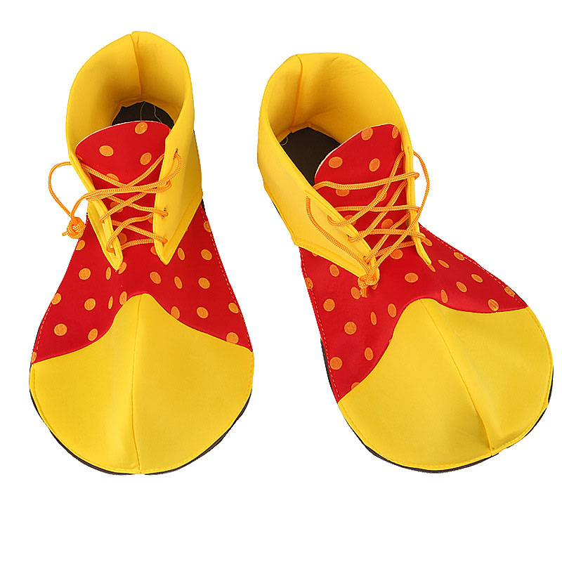 Children Adults Funny Colorful Clown Shoes Cosplay Clown Shoes Costume Props  Masquerade Party Dress Up Decor Carnival Festival