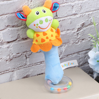 2pcs Chic Durable Intelligence Toy Animal Hand Bell Toy for Children