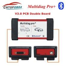 Mais recente V3.0 NEC Dual Real Chip 9241 BT 2016. r1/2016.00/2015.3 OBD2 Bluetooth Scanner Car Ferramenta de Diagnóstico de Caminhão Multidiag Pro MVD