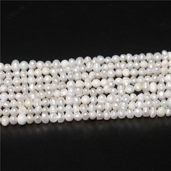 3.5mm White Natural Freshwater Punch Pearls For Jewelry Making Small Seed Pearl Beads DIY Accessories Necklace Bracelet 14