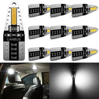 Katur 10x Canbus T10 LED W5W 2825 Interior Lights For Nissan Qashqai J10 J11 X-Trail t31 t32 Tiida Pathfinder Murano Note Juke 1