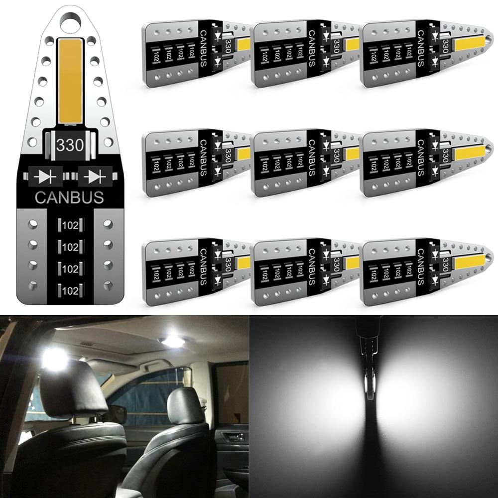 Katur 10x No Error W5W T10 LED Bulb Car Interior Lights For Peugeot 4008 5008 307 206 308 407 207 406 208 3008 2008 508 408 306