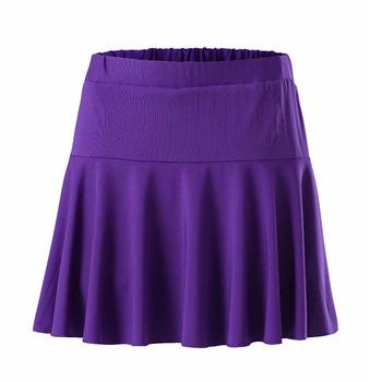 Spódnica sportowa w nowym stylu spódnica anty-ekspozycyjna spódnica krótka spódnica do tenisa spódnica plisowana szybkoschnąca spódnica do biegania na trening tanie i dobre opinie Solid Color China Lingj zk005 Divided Skirt