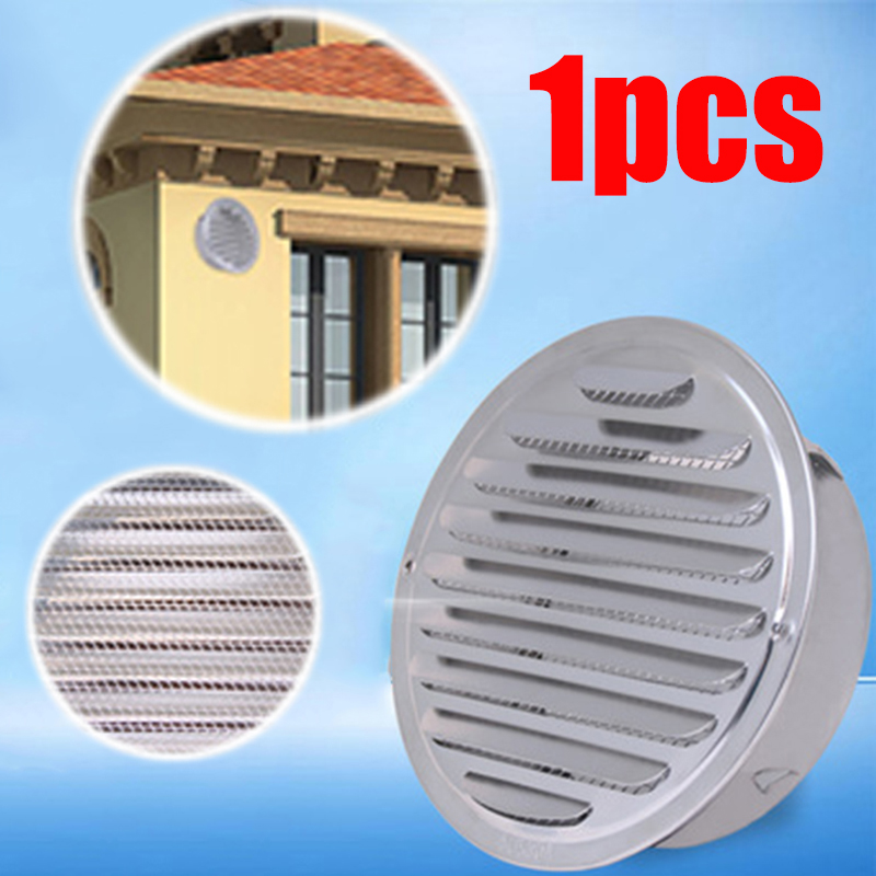 1pc Exterior Wall Round Mesh Hole Air Vent Louver Ventilation Air Outlet Stainless Steel  80mm 100mm 120mm 160mm