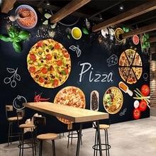 Mural Wallpaper Blackboard Custom Restaurant Personalized Photo Cafe Backdrop Pizza-Shop