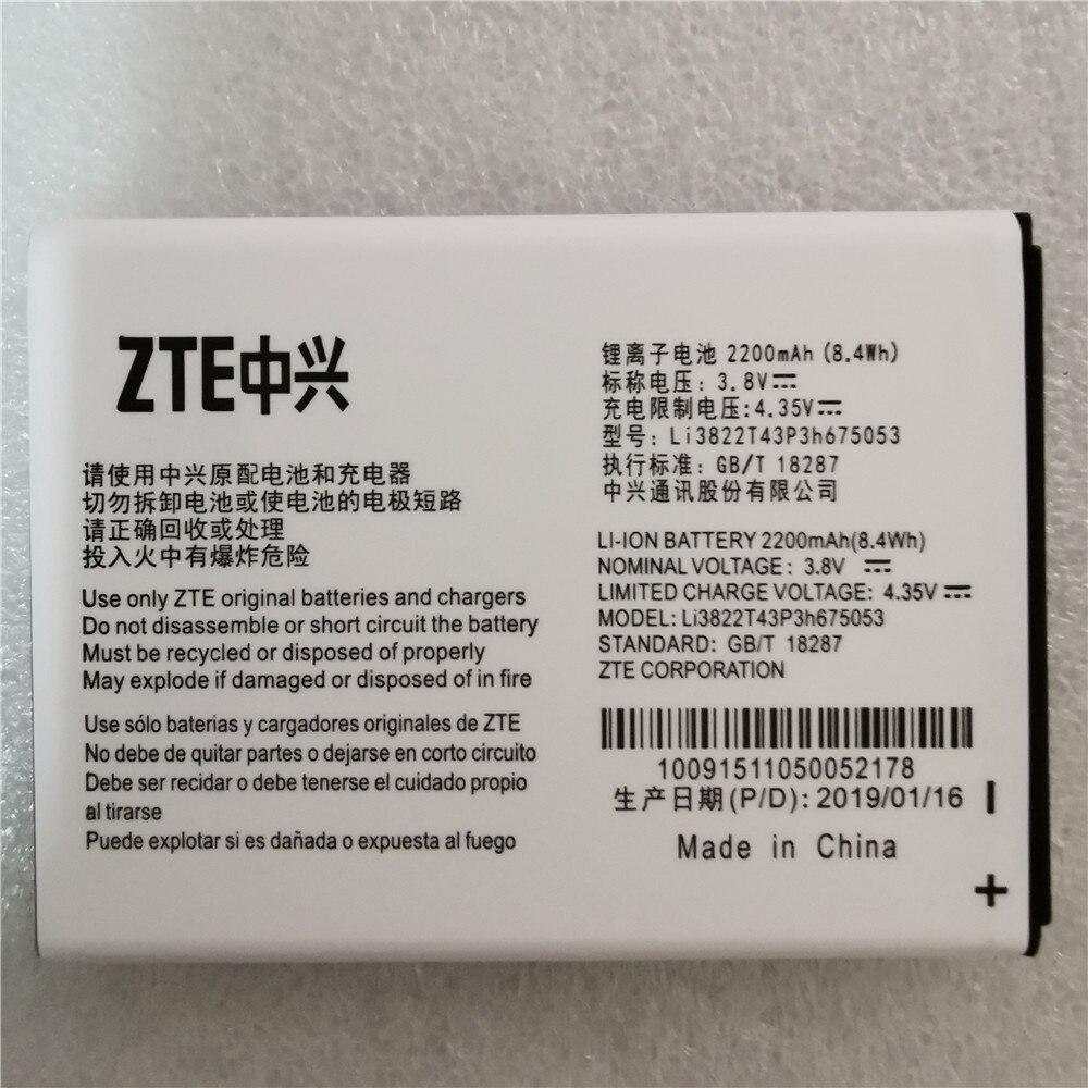 Batterie d'origine Li3822T43P3h675053 adaptée aux batteries ZTE Blade QLux Q Lux A430 Q Lux 3g 4g 2200mah