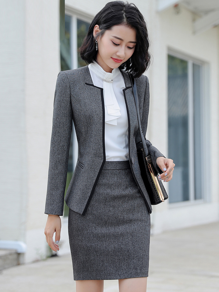 Spring Autumn women's suit with skirt female costumes skirt Suits ladies women blazer and jacket set work wear femal office OL