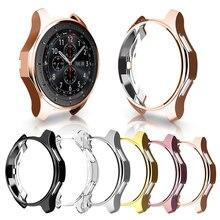超スリム用42ミリメートル/46ミリメートルスリムソフト中空アウト腕時計カバーギアs3保護バンパーシェル