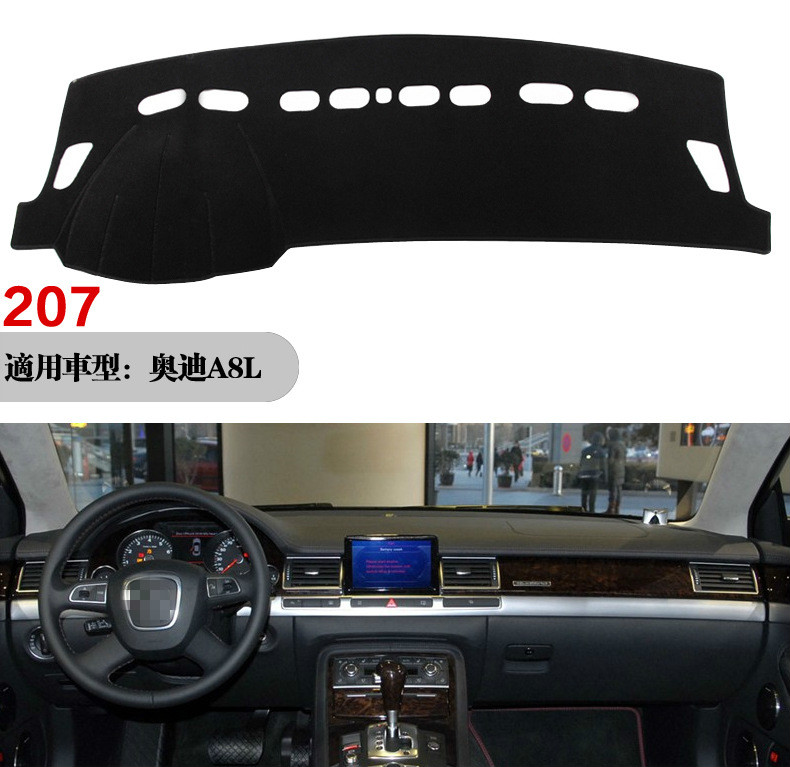 for <font><b>Audi</b></font> <font><b>A8</b></font> <font><b>D3</b></font> 2003~2010 4E Anti-Slip Anti-UV Mat Dashboard Cover Pad Shade Dashmat Protect Carpet Accessories S-line 2006 <font><b>2007</b></font> image