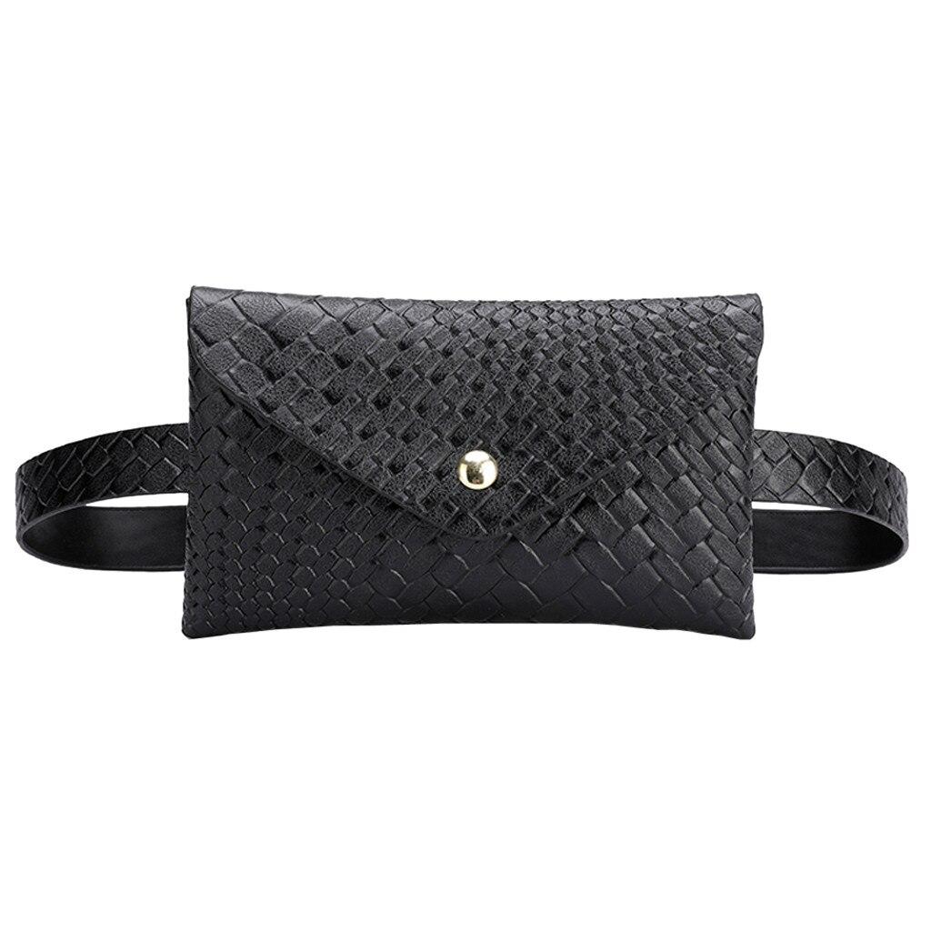 PU Waist Bag Women Belt Bag Hasp Outdoor Sports Chest Bum Bags Streetwear Handbag Beltbag Fanny Pack For Women Heuptas