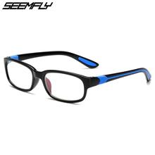 SEEMFLY okulary do czytania okulary kobiety mężczyźni plac TR90 okulary korekcyjne okulary kobieta mężczyzna nadwzroczność okulary Unisex powiększające okulary tanie tanio Przezroczysty Z tworzywa sztucznego Lustro YJ7654 Plastikowe tytanu 3 6cm 5 7cm