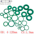 Зеленый FKM фторкаучук уплотнительное кольцо уплотнительная прокладка для масла CS 1 9 мм OD 4-120 мм