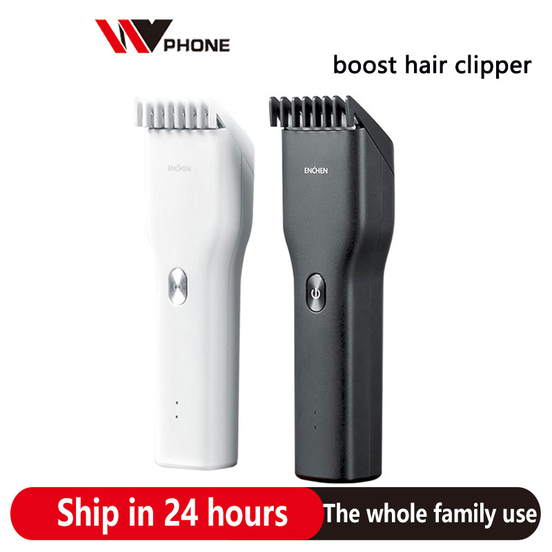 Xiaomi Youpin ENCHEN Boost Hair Clipper Professional USB Rechargeable Two Speed Ceramic Cutter Men Electric Cutting Machine