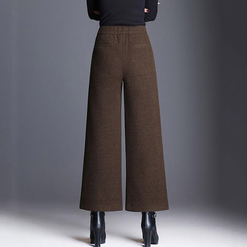 Mom Wide Leg Pants Fashion Thick Pants 2019 New Woolen Trousers Women Loose Casual Big Size 5XL Pants Female