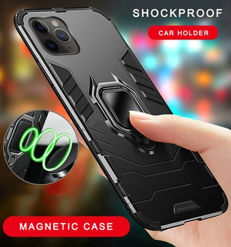 360 Phone Case For iPhone 11 Pro XS Max Case Silicone Magnetic Car Holder Cover For iphone 7 6 S 6S 8 Plus X XR Case Coque Funda image