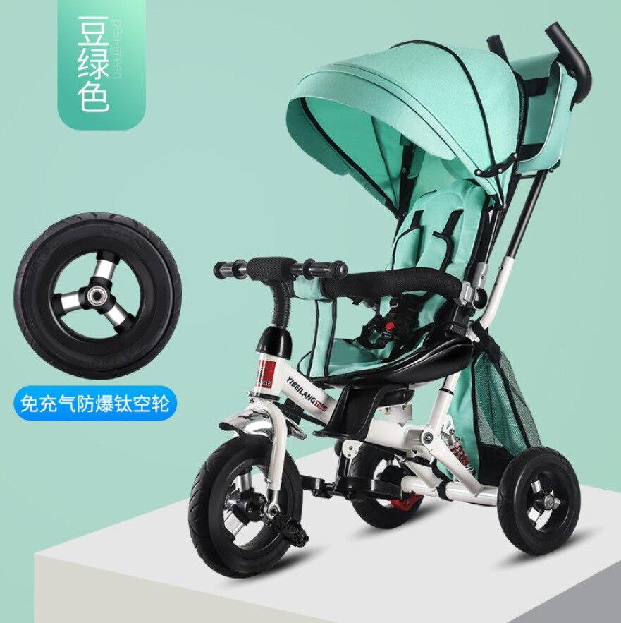 3 Wheel Bicycle Infant Tricycle Folding Rotating Seat Baby Stroller 4 In 1 Kids Bikes Three Wheel Stroller Baby Trolley 6M-3Y