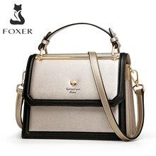 Foxerブランド女性のクロスボディバッグアコーディオンデザインショルダーバッグ分割革メッセンジャーバッグの女性の新ファッションの女性の財布