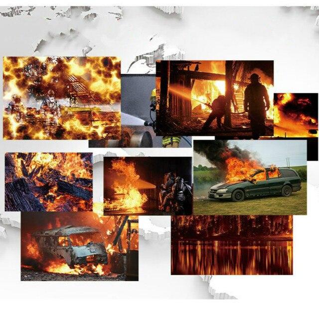 """Manta de fuego de fibra de vidrio grande. Protección contra llamas de supervivencia en emergencias, 59x59 """", para seguridad contra incendios en casa, alivio contra desastres"""