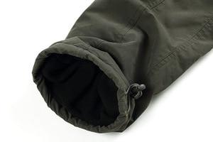 Image 5 - Mens Cargo Pants Winter Thicken Fleece Cargo Pants Men Casual Cotton Military Tactical Baggy Pants Warm Trousers Plus size 3XL