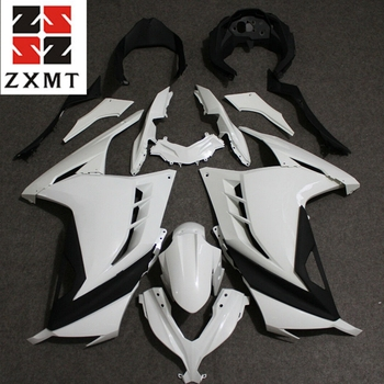 ZXMT Motorcycle Full Fairing Set Kit For Ninja 300 2013 2015 2017 EX300  Unpainted White Injection Bodywork Panel Plastics 13