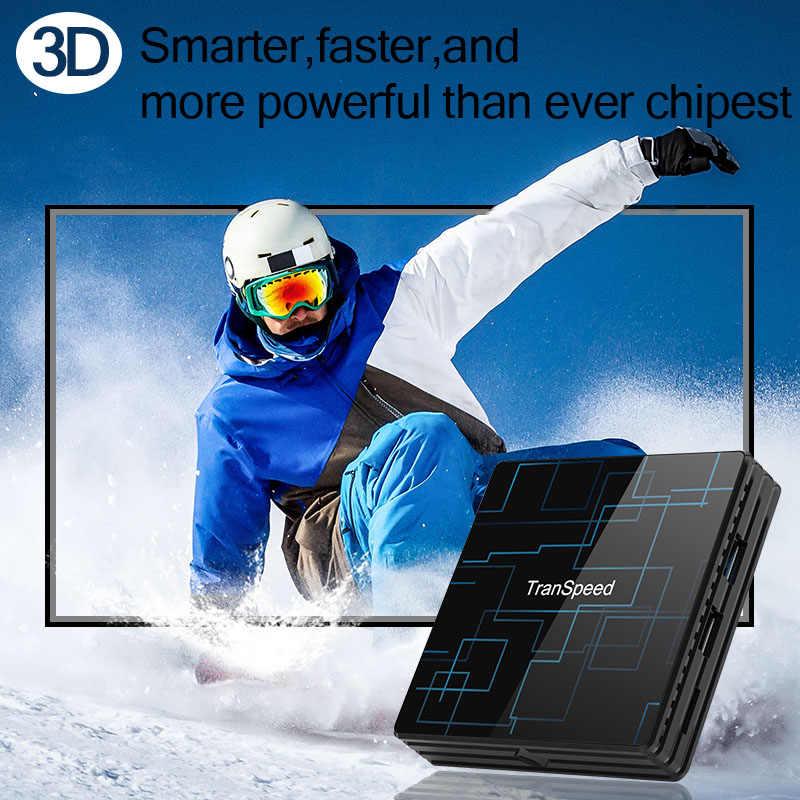 Transpeed Android 9.0 Smart TV BOX 4G 64G Google Voice Trợ Lý RK3318 4K 3D Ultra HD wifi Bluetooth Play Store IPTV Trên Hộp