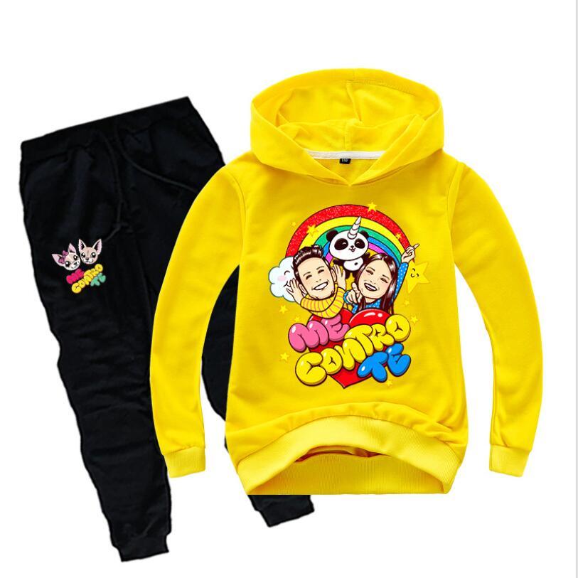 Spring Children Clothing Set Boy Girl Hoodies Sweatshirt+Pants 2pcs Clothes Sport Suits Me Contro Te Toddler Tracksuit Kid Coat