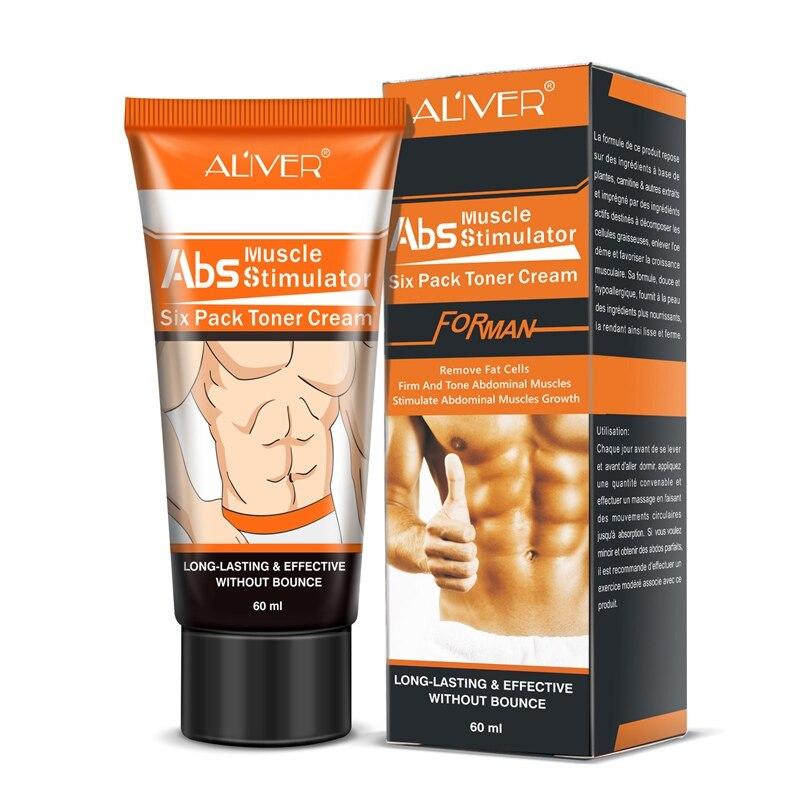 60ML Crema para músculos abdominales más fuertes músculos fuertes anticelulitis quema grasa producto pérdida de peso Crema para hombres